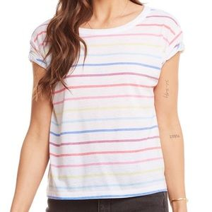 Chaser | Jersey Rolled Sleeve Open Neck Baby Tee